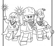 Coloriage Lego City Personnages pour enfant