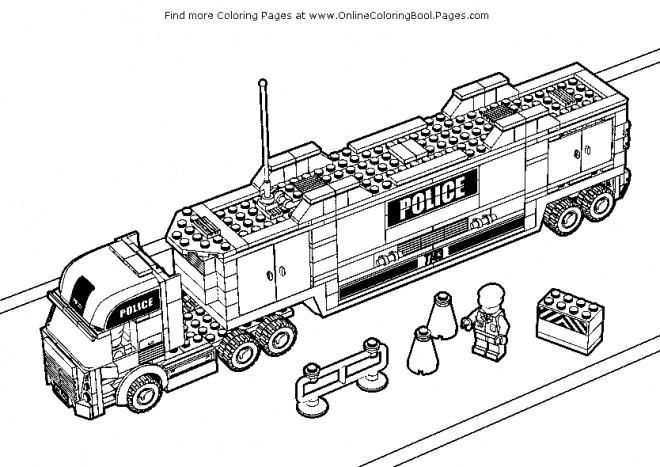 Coloriage Avion Lego City.Coloriage Lego City Police Dessin Gratuit A Imprimer