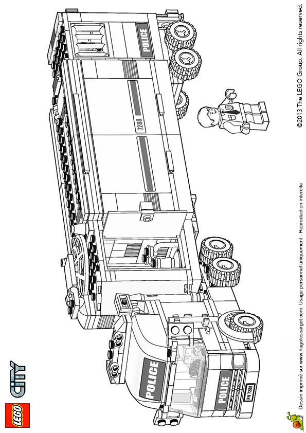 Coloriage et dessins gratuits Lego City Police Jouet à imprimer