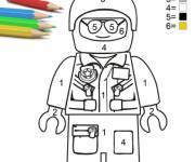 Coloriage Lego City Policier à colorier