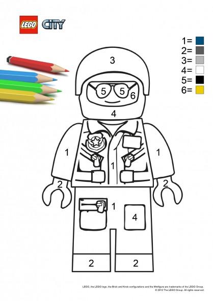 Coloriage et dessins gratuits Lego City Policier à colorier à imprimer