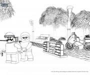 Coloriage Lego City Policier et Criminel stylisé