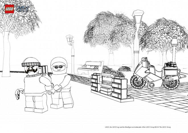 Coloriage et dessins gratuits Lego City Policier et Criminel stylisé à imprimer