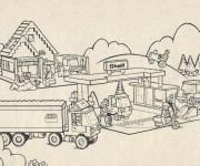 Coloriage Lego City stylisé