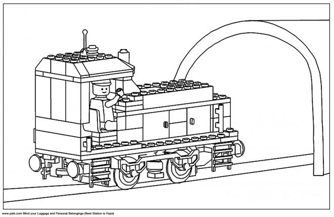 Coloriage et dessins gratuits Lego City Train à imprimer