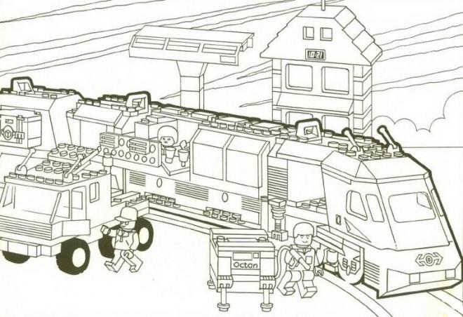 Coloriage et dessins gratuits Lego City Train Rapide à imprimer