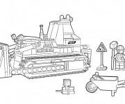 Coloriage Lego City travaux et Construction