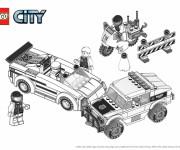 Coloriage Lego City véhicules pour enfant
