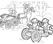 Coloriage Lego City Western