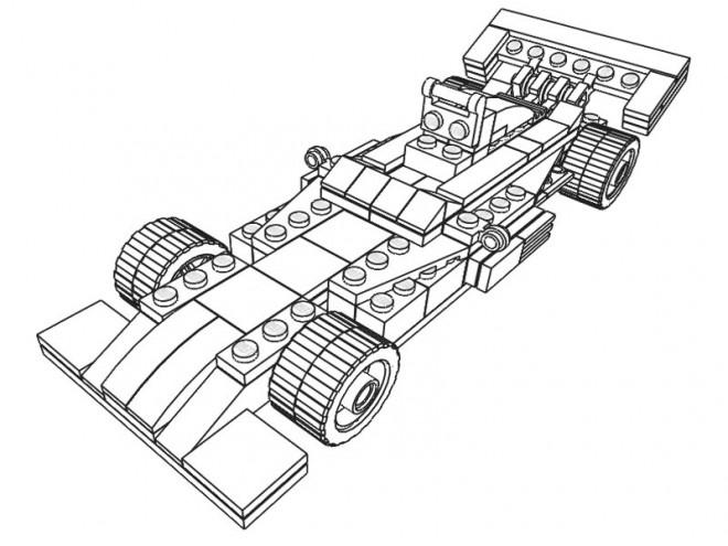 Coloriage et dessins gratuits Lego Formula 1 à imprimer