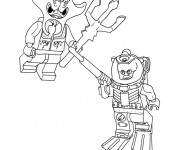 Coloriage Lego  Nexo Knights bataille