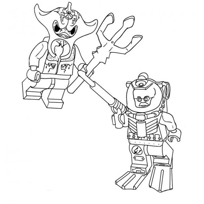 Coloriage et dessins gratuits Lego  Nexo Knights bataille à imprimer