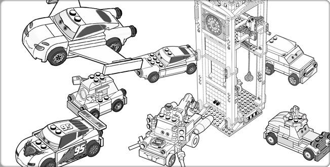 Coloriage voitures de lego city dessin gratuit imprimer - Lego city a colorier ...