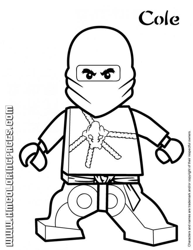 Coloriage et dessins gratuits Lego Ninjago Cole à imprimer