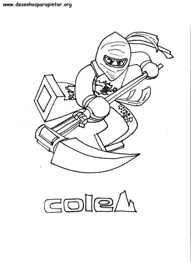 Coloriage et dessins gratuits Lego Ninjago Cole facile à imprimer