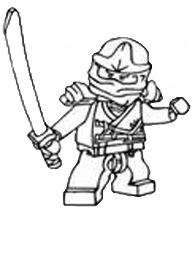 Coloriage Lego Ninjago Cole pour enfant dessin gratuit