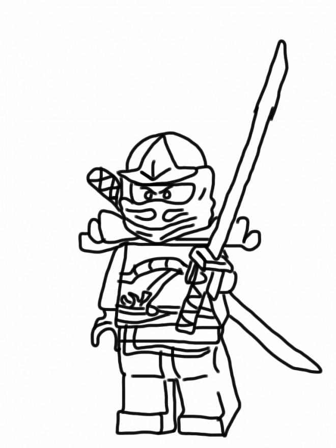 Coloriage lego ninjago dessin anim dessin gratuit imprimer - Dessin anime ninja ...
