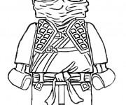 Coloriage et dessins gratuit Lego Ninjago en noir et blanc à imprimer