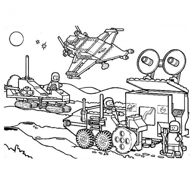 Coloriage et dessins gratuits Lego Ninjago Les Astronautes à imprimer