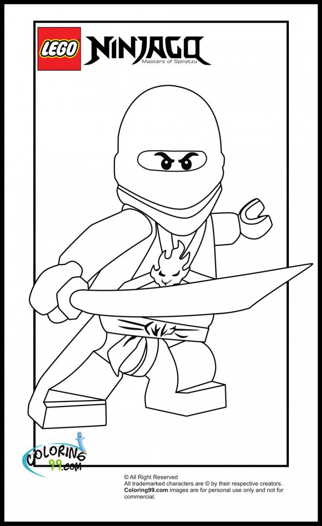 Coloriage et dessins gratuits Lego Ninjago Lloyd encadré à imprimer