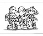Coloriage Lego Ninjago maternelle