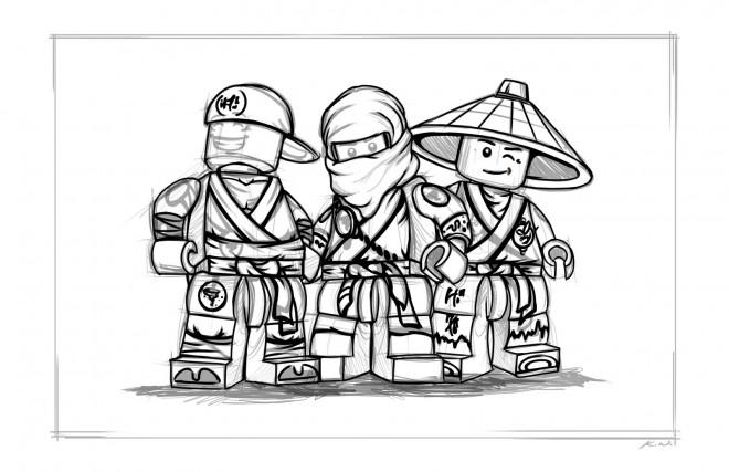 Coloriage et dessins gratuits Lego Ninjago maternelle à imprimer