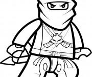 Coloriage Lego Ninjago Ninja vectoriel