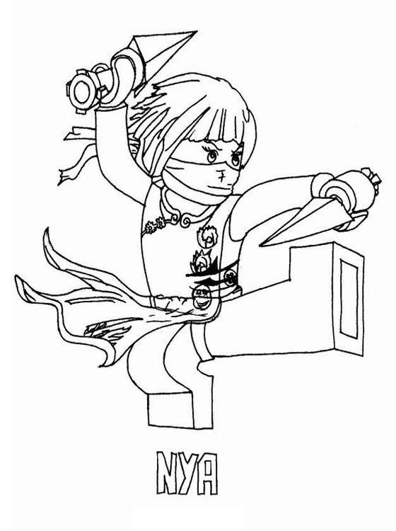 Coloriage et dessins gratuits Lego Ninjago Nya à imprimer