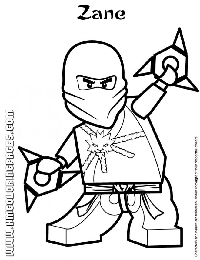 Coloriage et dessins gratuits Lego Ninjago Zane à imprimer
