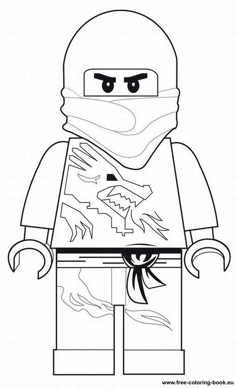 Coloriage et dessins gratuits Portrait Lego Ninjago Jay à imprimer
