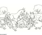 Coloriage dessin  Animaux de Ferme 1