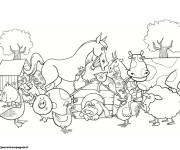 Coloriage et dessins gratuit Animaux de Ferme couleur à imprimer