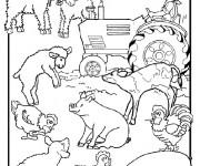 Coloriage Animaux de Ferme pour enfant