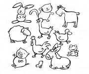 Coloriage et dessins gratuit Animaux de La Ferme couleur à imprimer