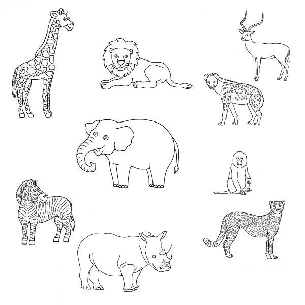 Coloriage et dessins gratuits Animaux de La Forêt simple à imprimer