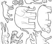 Coloriage et dessins gratuit Animaux Sauvages 20 à imprimer