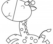 Coloriage dessin  Girafe 43
