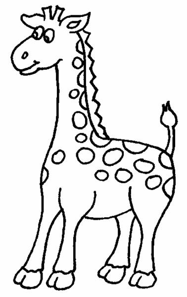 Coloriage et dessins gratuits Girafe animal d'Afrique à imprimer