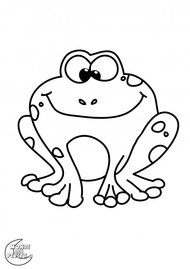 Coloriage et dessins gratuits Grenouille facile à dessiner à imprimer