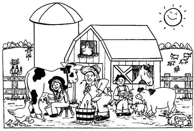 Coloriage et dessins gratuits La Ferme et Les Animaux à imprimer