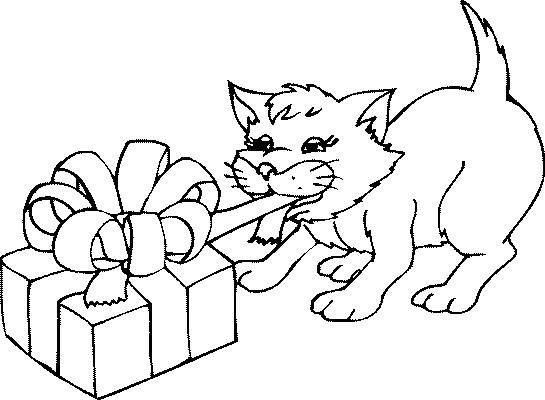 Coloriage et dessins gratuits Le Chat mignon à imprimer