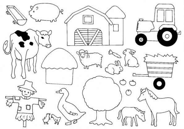 Coloriage et dessins gratuits Les animaux de la ferme facile à imprimer