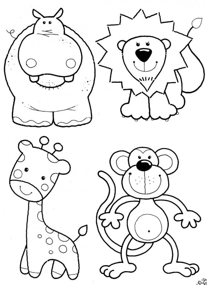 Coloriage Les Animaux De La Savane Dessin Gratuit A Imprimer