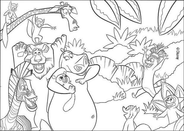 Coloriage et dessins gratuits Les Animaux de Madagascar à imprimer