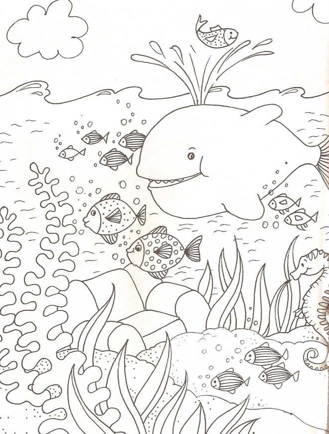 Coloriage Mer Et Poissons Dessin Gratuit à Imprimer
