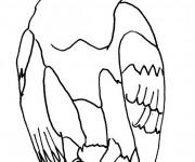 Coloriage Un Aigle stylisé