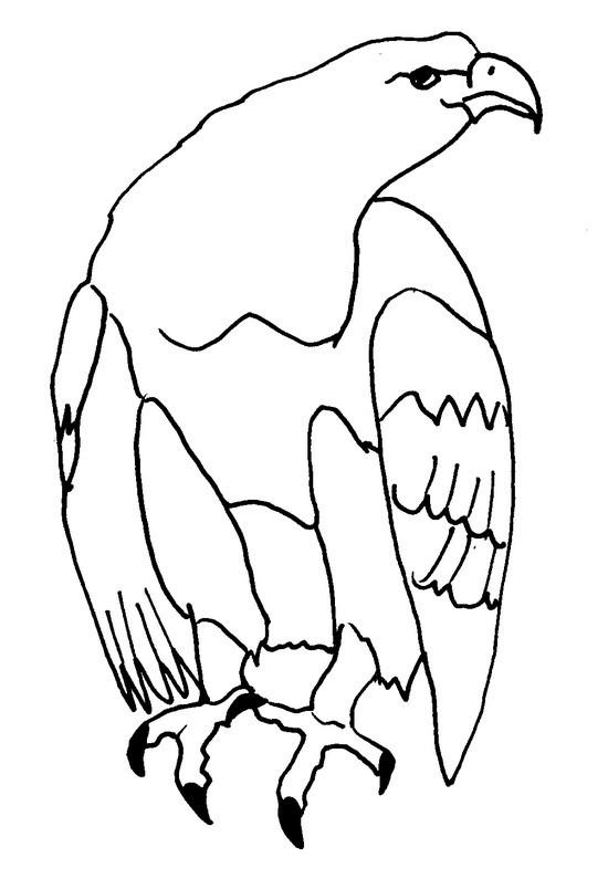 Coloriage et dessins gratuits Un Aigle stylisé à imprimer