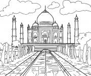Coloriage Taj Mahal indien