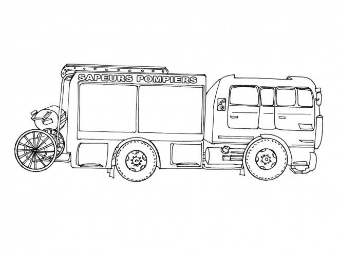 Coloriage Camion De Pompier Dessin Gratuit A Imprimer