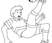 Coloriage et dessins gratuit Joueur de Foot à imprimer